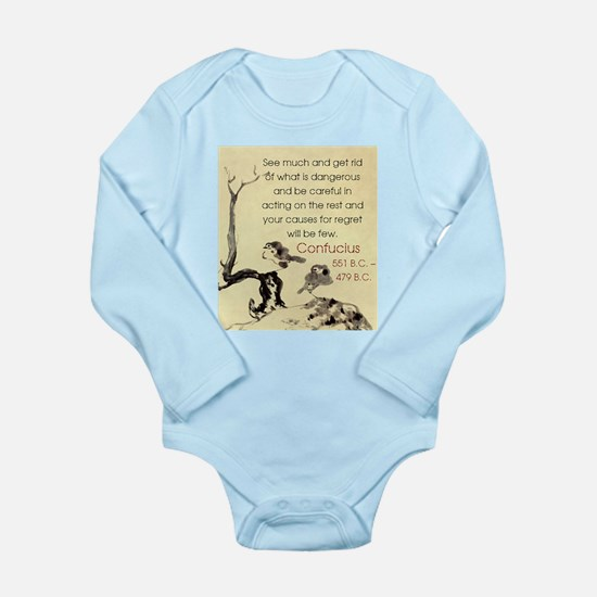 See Much And Get Rid Of - Confucius Onesie Romper Suit