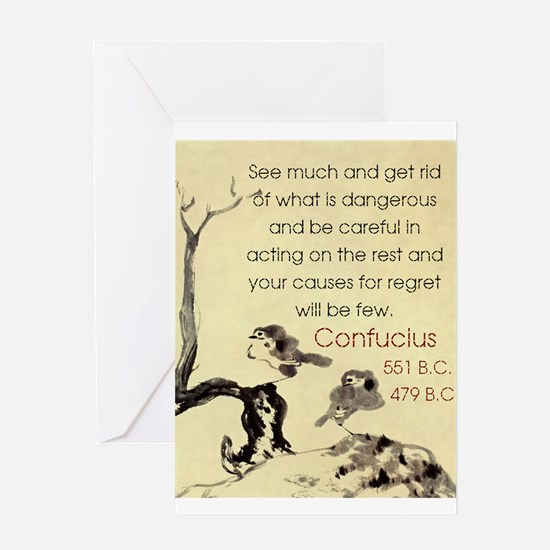 See Much And Get Rid Of - Confucius Greeting Card