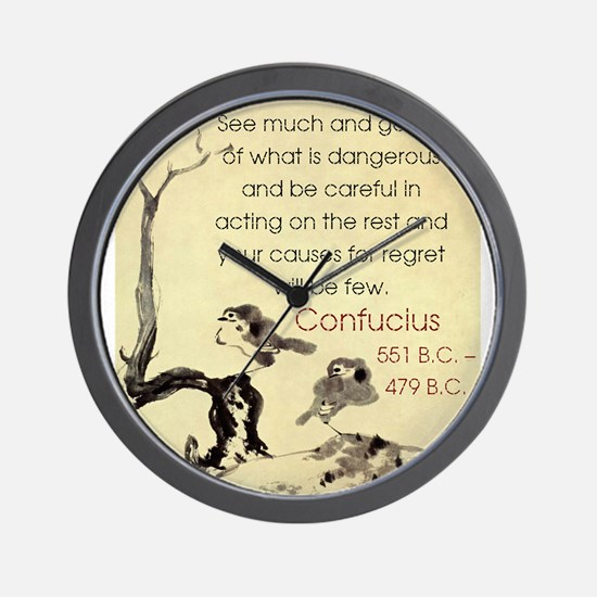 See Much And Get Rid Of - Confucius Wall Clock