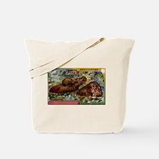 Antique French Hippopotamus Postcard Tote Bag