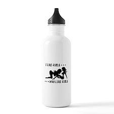 I Like Girls Who Like Girls Water Bottle