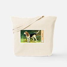 Antique 1908 Beagle Dog Cigarette Card Tote Bag