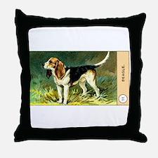 Antique 1908 Beagle Dog Cigarette Card Throw Pillo