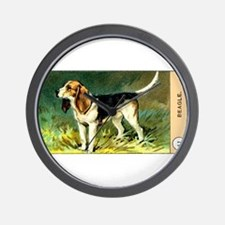 Antique 1908 Beagle Dog Cigarette Card Wall Clock