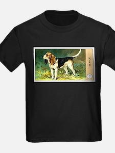 Antique 1908 Beagle Dog Cigarette Card T-Shirt