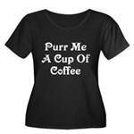 Purr Me A Cup of Coffee Women's Plus Size Scoop Ne