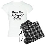 Purr Me A Cup of Coffee Women's Light Pajamas