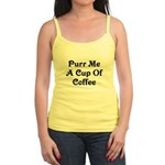 Purr Me A Cup of Coffee Jr. Spaghetti Tank