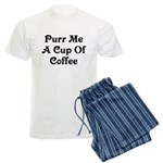 Purr Me A Cup of Coffee Men's Light Pajamas