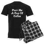 Purr Me A Cup of Coffee Men's Dark Pajamas