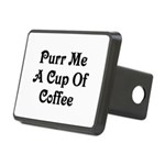 Purr Me A Cup of Coffee Rectangular Hitch Cover