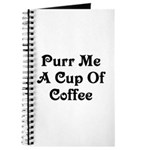 Purr Me A Cup of Coffee Journal
