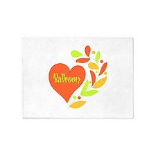Ballroom Heart 5'x7'Area Rug