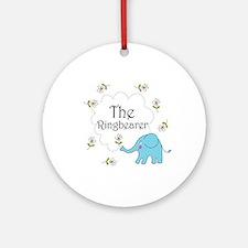 The Ringbearer Wedding Elephant Ornament (Round)