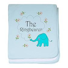 The Ringbearer Wedding Elephant baby blanket