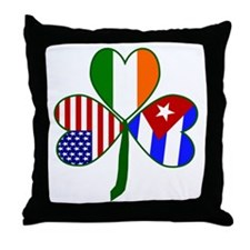 Shamrock of Cuba Throw Pillow