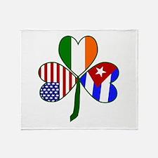 Shamrock of Cuba Throw Blanket
