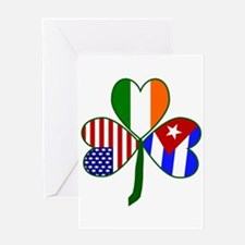 Shamrock of Cuba Greeting Card