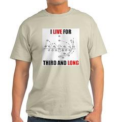 Third and Long Ash Grey T-Shirt
