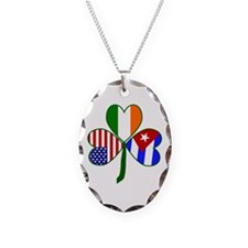 Shamrock of Cuba Necklace Oval Charm