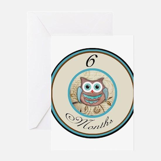 6 Months Owl Milestone Greeting Card