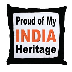 Proud India Heritage Throw Pillow