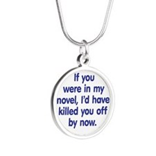 In My Novel - Writer Silver Round Necklace