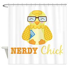 Nerdy Chick Shower Curtain