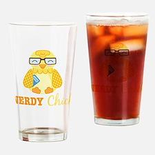 Nerdy Chick Drinking Glass