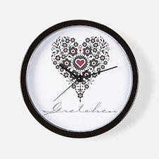 Love Gretchen Wall Clock