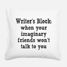 Writer's Block Square Canvas Pillow