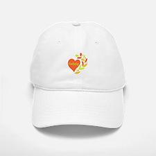 Crocheting Heart Baseball Baseball Cap