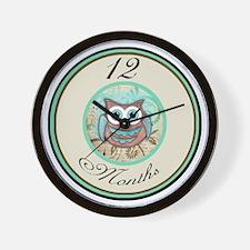 12 Months Owl Milestone Wall Clock