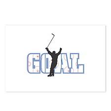 Hockey Goal Design Postcards (Package of 8)