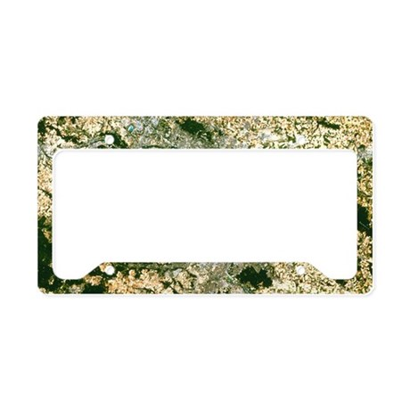 Satellite image of Paris - License Plate Holder
