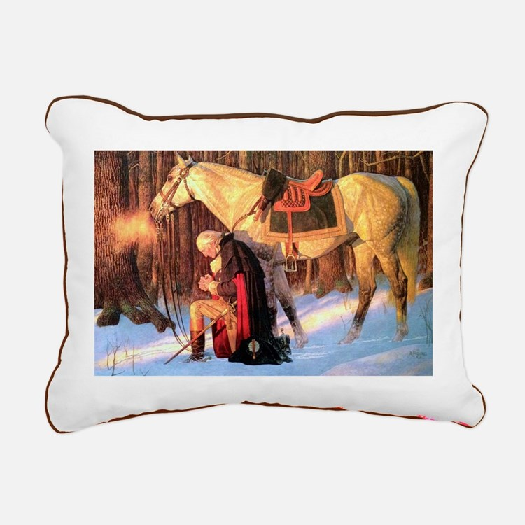 George Washington Rectangular Canvas Pillow