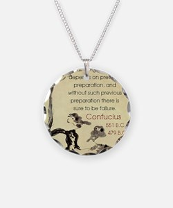 In All Things Success Depends - Confucius Necklace
