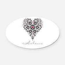 Love Helena Oval Car Magnet