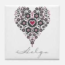 Love Helga Tile Coaster