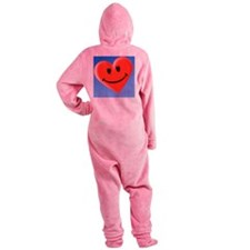 Smiley heart face symbol - Footed Pajamas