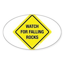 Watch For Falling Rocks Rectangle Decal
