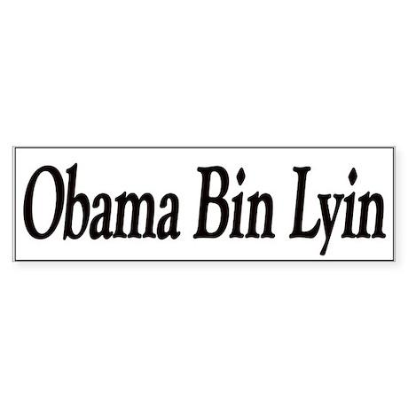 Obama Bin Lyin Bumper Sticker