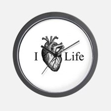I Heart Life Wall Clock