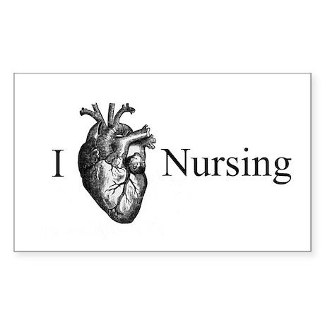 I Heart Nursing Sticker