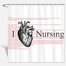 I Heart Nursing Definition Shower Curtain