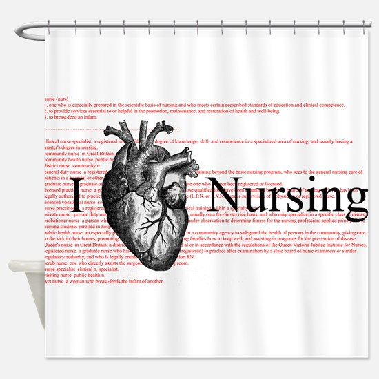 I Heart Nursing Definition Shower Curtain