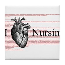 I Heart Nursing Definition Tile Coaster
