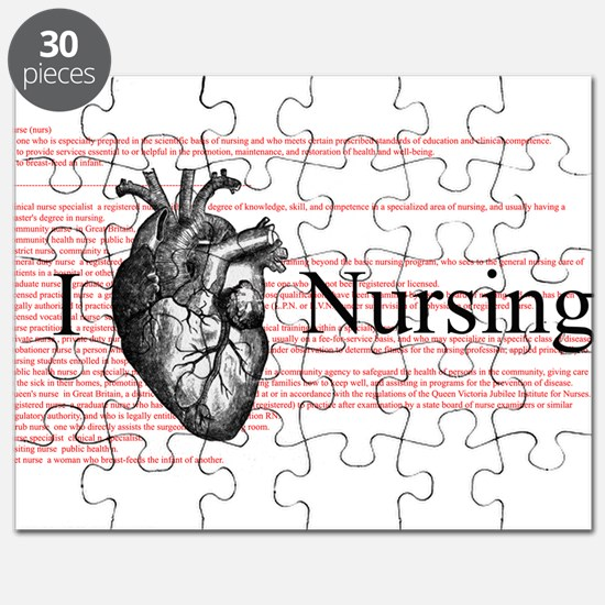 I Heart Nursing Definition Puzzle