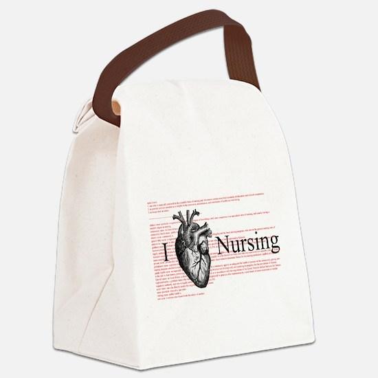 I Heart Nursing Definition Canvas Lunch Bag