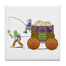 Zombie Express Tile Coaster